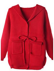 Девичий Куртка / пальтоШерсть,Зима,Красный