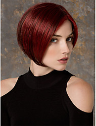 Top Quality Red Color Short Straight Synthetic Wigs