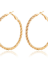 Golden Aolly Hoop Earrings