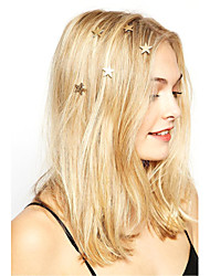 Women Fashion Simple Star Pattern Spring Alloy Hairpin Hair Accessories