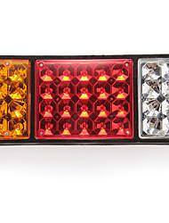 casal lâmpada, luz traseira 36LED 3 cores DC24V para capa caminhão do carro
