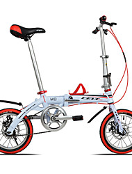 Folding Bike Cycling 10 Speed 14 Inch 44mm Unisex / Men's / Women's YINXING Double Disc Brake Ordinary Aluminium Alloy Frame Folding