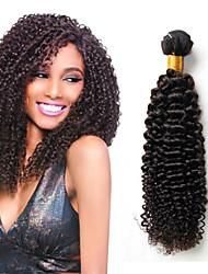 4 pc sacco peruviani riccio crespo dei capelli vergini di 100% capelli umani del tessuto fasci economici estensioni peruviane dei capelli