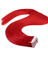 Neitsi 20'' 50g 20Pcs  Red Skin Weft Extensions Straight Remy Human Hair Extensions