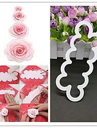 3D Rose Flower Fondant Cake Mold Chocolate Sugarcraft Mould  Decor Tool