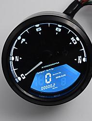 12-24V nova lcd velocímetro digital motor bicicleta odômetro da motocicleta