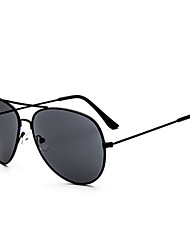 Óculos de Sol Homens / Mulheres / Unissex's Clássico / Retro / Vintage / Aviador Anti-UV / 100% UV / Anti-Radiação Aviador PretaÓculos de