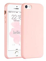 розовая девушка цветом элегантный простой мягкий чехол для iphone 5 / iPhone 5s