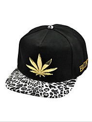 European And American Punk Style Metal Cannabina Leopard Baseball Cap