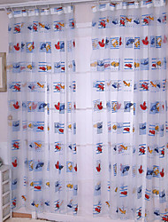 W100cm*L200cm,Cartoon Car One Panel Rod pocket Multicolour Polyester Sheer Curtains Shades