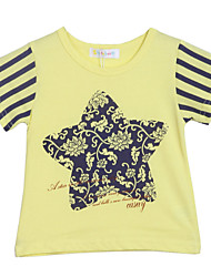 Girl's Yellow Tee Cotton Summer