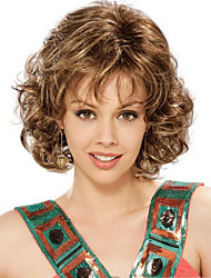 Fashion Middle Short Wavy Wig Woman's Synthetic Wigs Hair Freeshipping