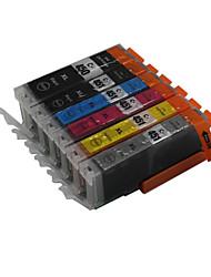 bloom®450bk + 451bk / c / m / y / gy cartouche d'encre compatible pour pixma mg5540 / mg6340 / mg7140 / ip7240 / mx924 / ix6540 / ix6840 /