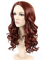 Fashion Synthetic Wigs Brown Color Wave Style Synthetic Wigs