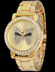 Women's Fashion Butterfly Watch Alloy Band with Brick Cool Watches Unique Watches