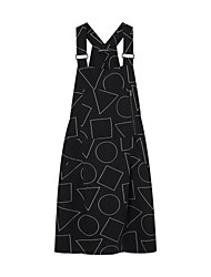 Meters/bonwe Women's Strap Sleeveless Knee-length Dress-242649