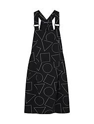 Meters/bonwe Women's Strap Sleeveless Above Knee Dress-242649