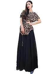 verragee Bud silk chiffon long dress dress Bud silk dress Chiffon dress