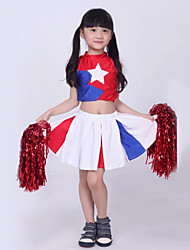 Cheerleader Costumes Children's Performance Star Print 2 Pieces Outfits Multi-color