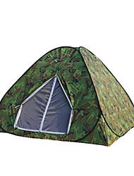Tenda(Camuflagem,3-4 Pessoas) -Á Prova de Humidade / Prova de Água / Respirabilidade / Insulação de Calor / Resistente Raios Ultravioleta