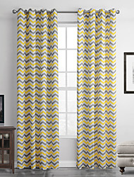 One Panel Modern Stripe Multi-color Living Room Polyester Panel Curtains Drapes 52 inch Per Panel
