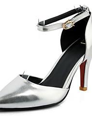 Women's / Girl's Wedding Shoes Heels / Pointed Toe Heels Wedding / Party & Evening / Dress Black / Purple / Red / Silver