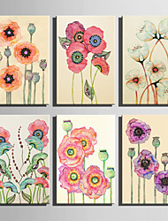 E-HOME® Stretched Canvas Art The Flowers In Full Bloom Series Decoration Painting MINI SIZE One Pcs