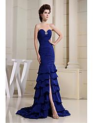 Fiesta formal Vestido-Azul Real Trompeta/Sirena Corte-Corazón Raso
