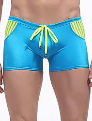 Men's Sexy Color Block Swim Shorts Beachwear Swimwear