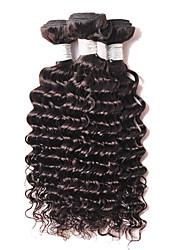 4bundles 200g 8-26inch бразильские глубокие волосы расширения волос, реальные человеческие remy виргинские волосы weave