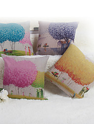 Baolisi Set of 4  Flower Girl Decorative Pillow /Children of the World