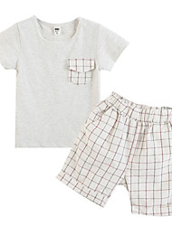 Girl's Clothing Set,Cotton Summer Gray