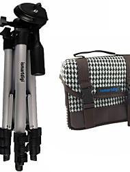ismartdigi i101 White Camera Bag+ir120 3 Sections Tripod for All DSLR and Mini DSLR DV Nikon Canon Sony Olympus