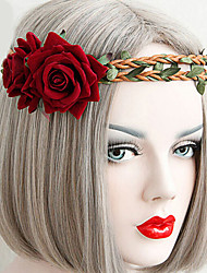 Lolita Jewelry Gothic Lolita Headwear Vintage Inspired Red Lolita Accessories Headpiece Floral For Women