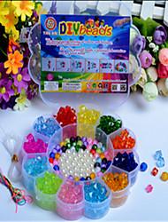 los granos creativos juguetes educativos de los últimos niños manuales de ciruela acrílico bricolaje caja de la forma