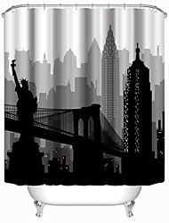 "Modern Statue of Liberty Shower Curtains W71""×L71"""