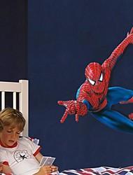 pegatinas de pared calcomanías, dibujos animados súper hombre araña niños aman pegatinas de pared de pvc