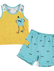 Girl's Clothing Set,Cotton Summer Yellow
