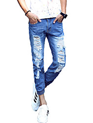 Men's Ripped Jeans,Cotton Casual