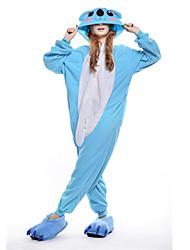 kigurumi Pyjamas New Cosplay® / Koala Collant/Combinaison Fête / Célébration Pyjamas Animale Halloween Bleu Mosaïque Polaire Kigurumi Pour