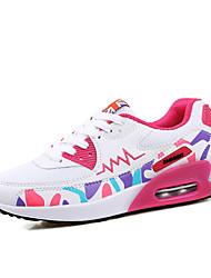 Sapatos Tênis Feminino Preto / Roxo / Branco Tule