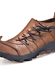 Men's Shoes Outdoor / Office & Career / Work & Duty / Party & Evening / Dress / Casual Nappa Leather Boots Brown