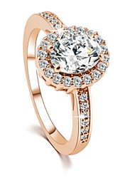 2016 Engagement Ring Real 18K Gold Plated Micro Inlay AAA Zircon Fashion Rings