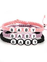 Vilam® Women's Kid's Colorful Baby Letter Handmade Braiding Friendship Bracelet 19~21cm