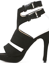 Women's Shoes Synthetic Stiletto Heel Peep Toe Sandals Wedding /Office & Career/Party & Evening/Dress/Casual Black