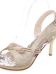 Women's Shoes Stiletto Heel Heels / Peep Toe / Platform Sandals Wedding / Party & Evening / Dress/Pink/Purple/Gold