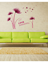 SK9021 New Wall Stickers Factory Wholesale Flowers Scenery Flowers That Can Remove The Wall Stickers For Living Rooms
