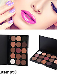 15 Colors 5in1 Smoky Eyeshadow/Makeup Base Primer/Foundation/Blusher/Bronzer Professional Cosmetic Palette Earth Tone