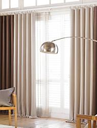 Deux Panneaux Moderne Solide / Mosaïque Comme image Salle de séjour Polyester Rideaux occultants rideaux
