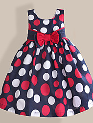 Girls Dress Colorful Dot Sundress Cotton Party Pageant Princess Cute Clothing